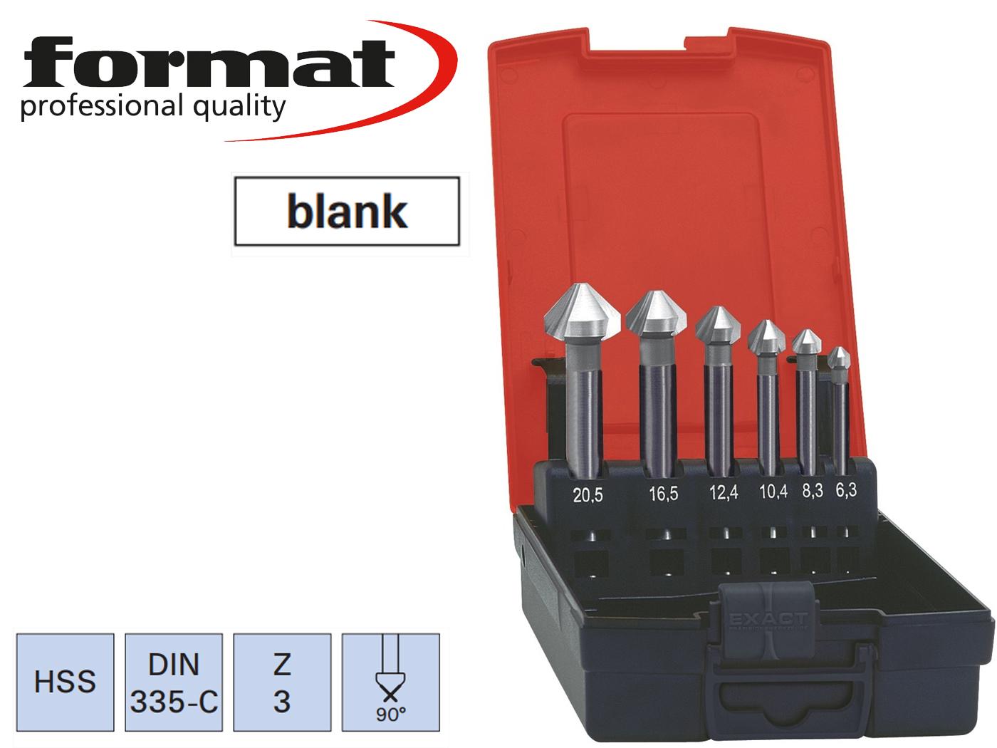 verzinkboor set Lang DIN 335 C 90G FORMAT   DKMTools - DKM Tools