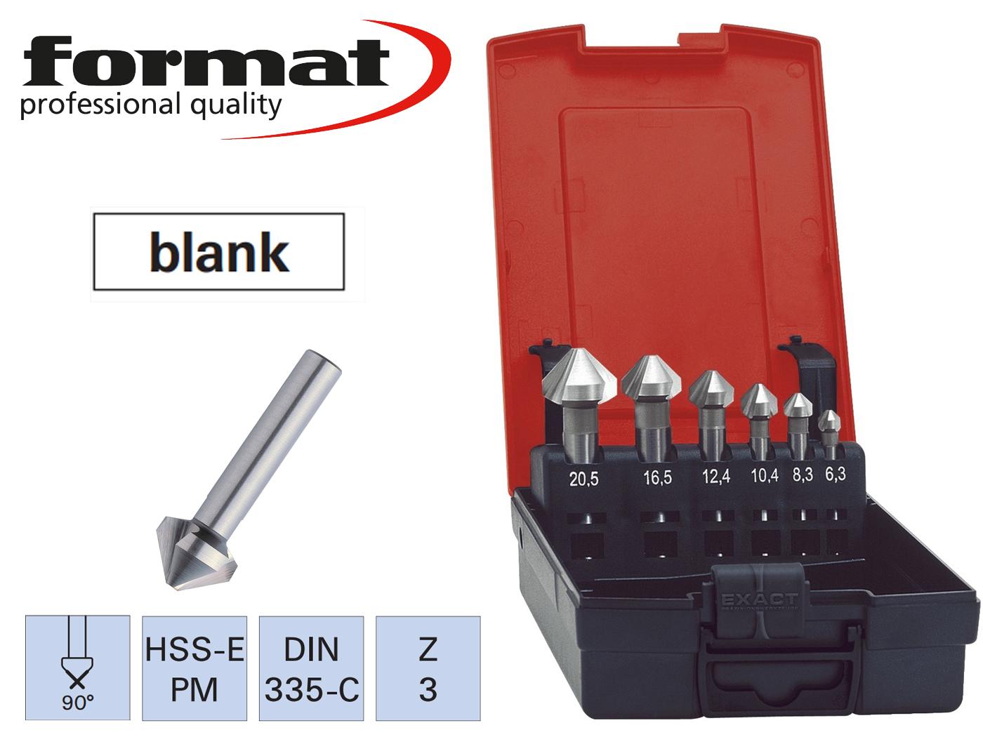 verzinkboor set DIN 335C HSSE PM 90G FORMAT   DKMTools - DKM Tools