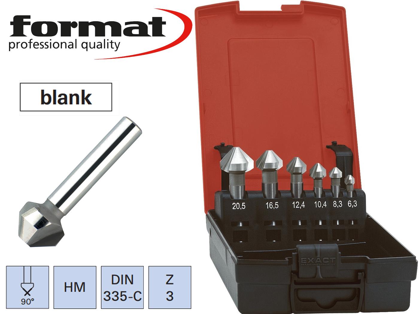 verzinkboor set DIN 335C VHM 90G FORMAT   DKMTools - DKM Tools