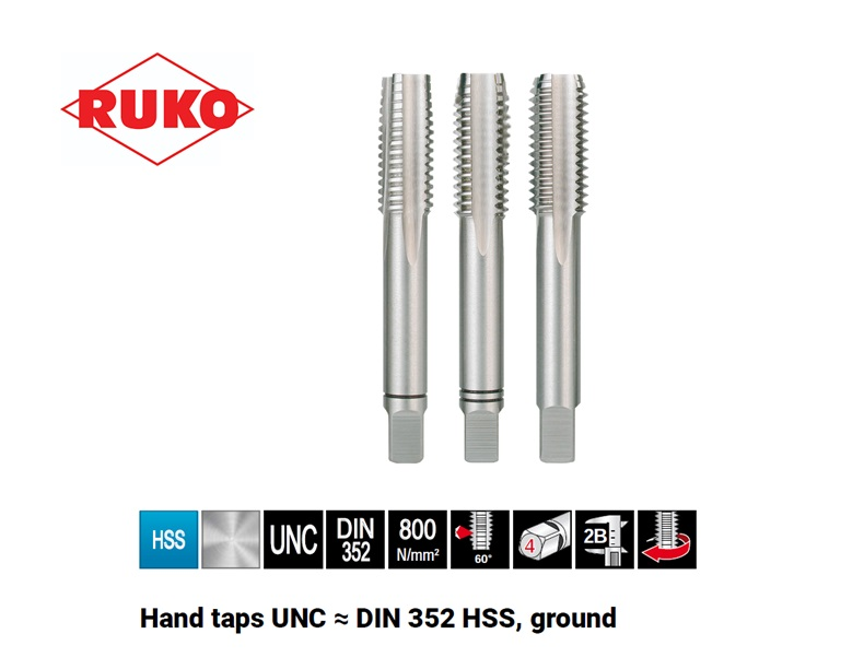 Handtappensets UNC DIN 352   DKMTools - DKM Tools