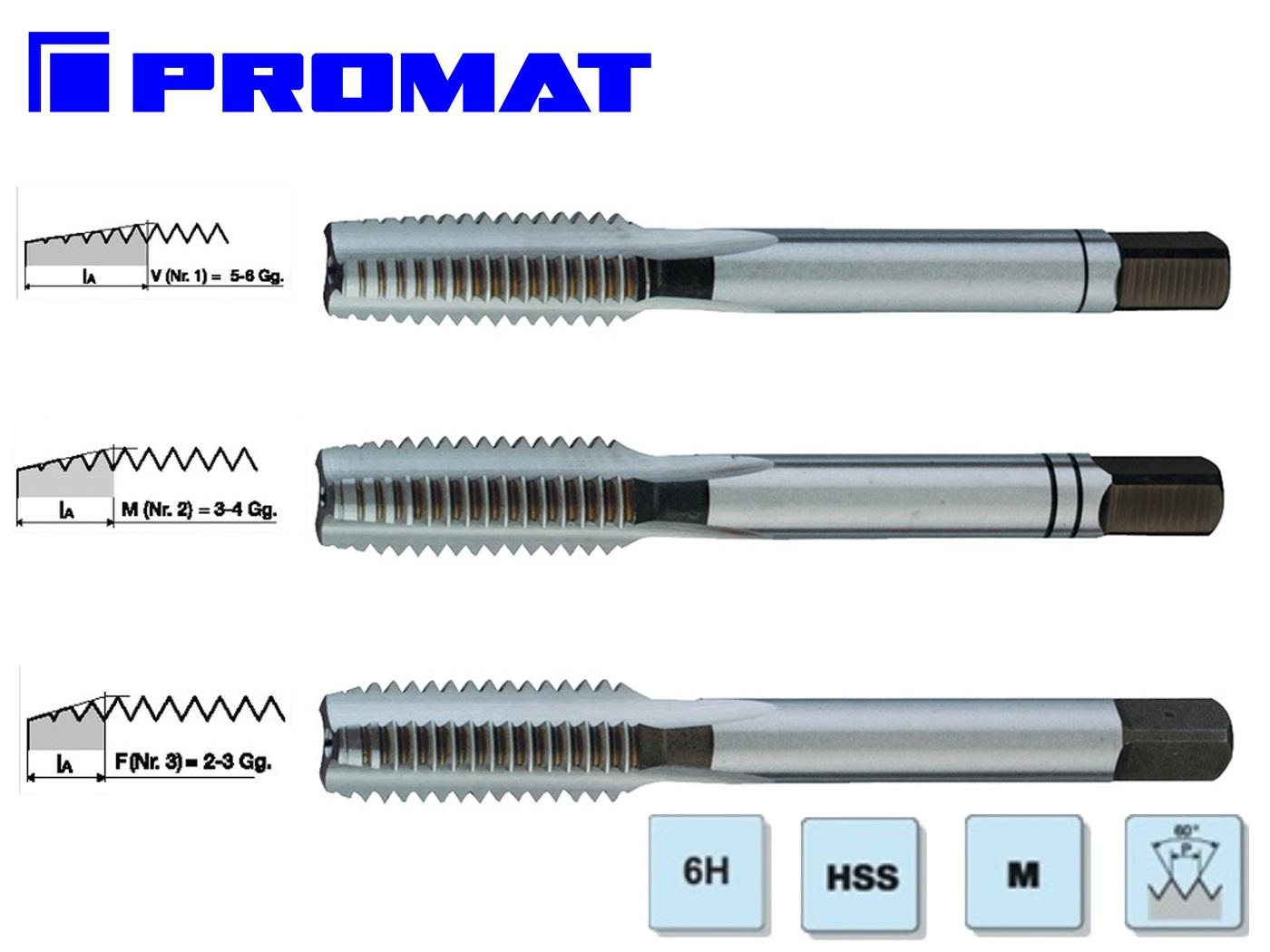 Handtappenset DIN352 HSS PROMAT   DKMTools - DKM Tools