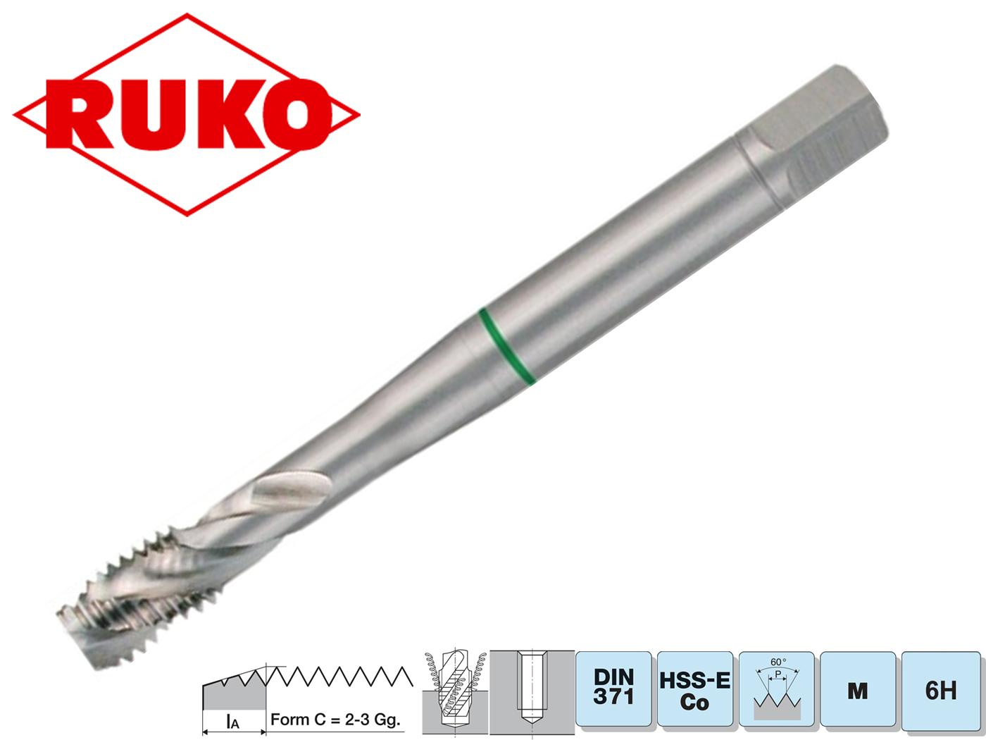 Machinetappen DIN 376. C HSSE Co 5 geslepen | DKMTools - DKM Tools