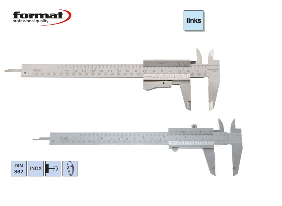 FORMAT Zakschuifmaat linkshandig | DKMTools - DKM Tools