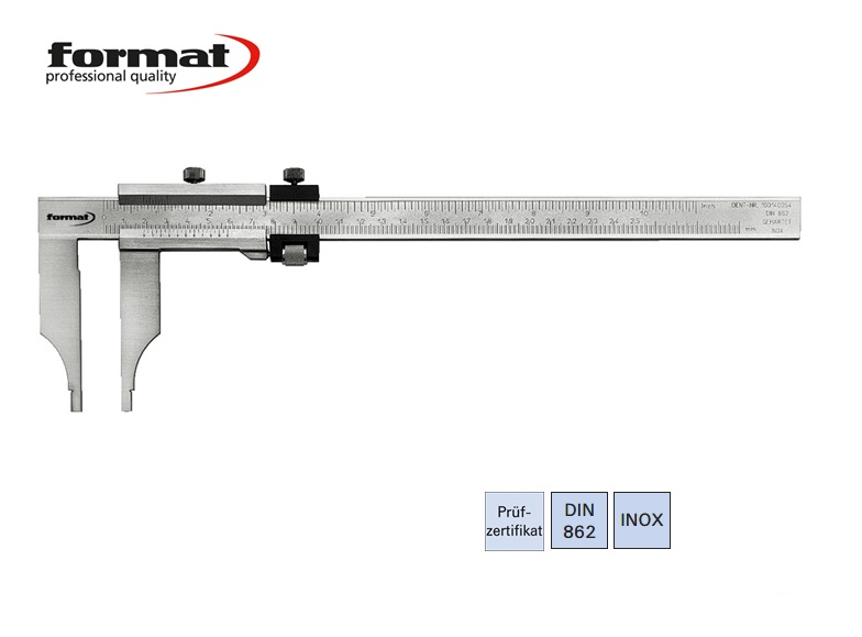 FORMAT Werkplaatsschuifmaat met fijninstelling | DKMTools - DKM Tools