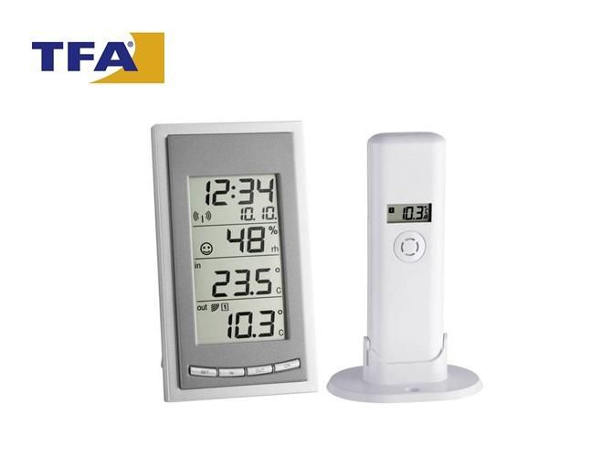 Draadloze thermo- en hygrometer TFA Diva | DKMTools - DKM Tools