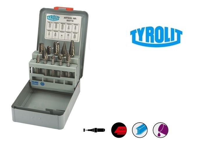 Hardmetaalfrezen Set 10 stuk Tyrolit | DKMTools - DKM Tools