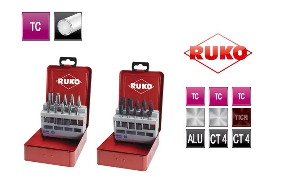 Set TC freesstiften 10 dlg industrie cassette   DKMTools - DKM Tools