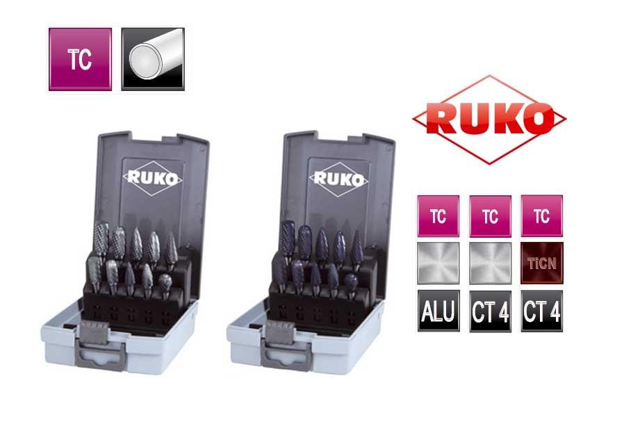 Set TC freesstiften 10 dlg Kunststofcassette   DKMTools - DKM Tools