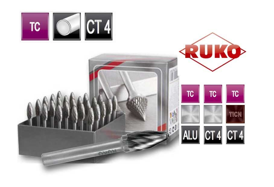 Freesstiftenset. vorm F rondboog TC ALU | DKMTools - DKM Tools