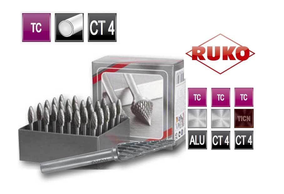 Freesstiftenset. vorm L ronde kegel TC CT 4   DKMTools - DKM Tools