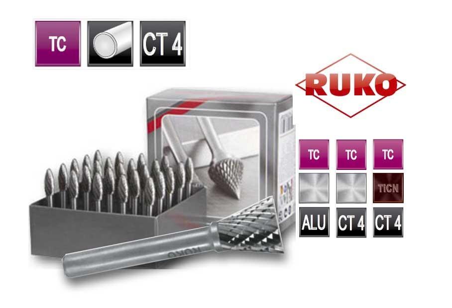 Freesstiftenset. vorm N hoek TC CT 4   DKMTools - DKM Tools