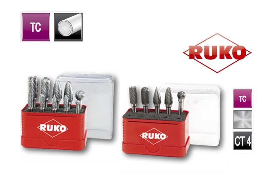 Sets hardmetaal freesstiften. in mini box TC CT 4   DKMTools - DKM Tools