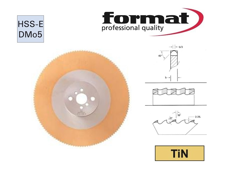 FORMAT Metaalcirkelzaagblad TIN HSS-DMo5 | DKMTools - DKM Tools