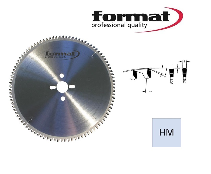 FORMAT Hardmetaal cirkelzaagblad trapezium neg | DKMTools - DKM Tools