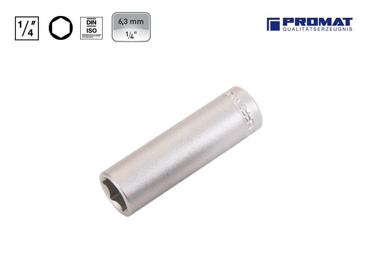 Dopsleutels Lang 6.3mm 6 kant Promat | DKMTools - DKM Tools