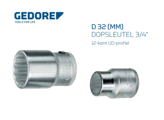 Gedore D 32.Dopsleutel 20mm | DKMTools - DKM Tools