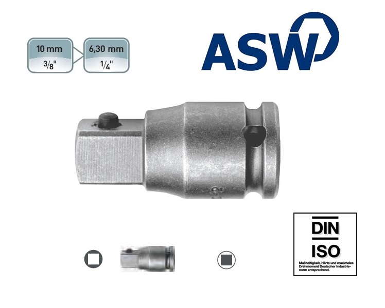 ASW Krachtverloopstuk 10.0 mm | DKMTools - DKM Tools