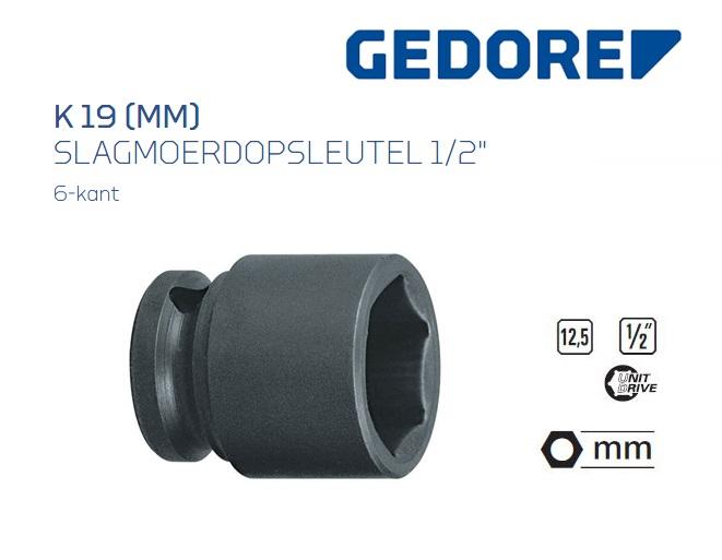 Gedore K 19 Slagmoerdopsleutel 12.5mm | DKMTools - DKM Tools