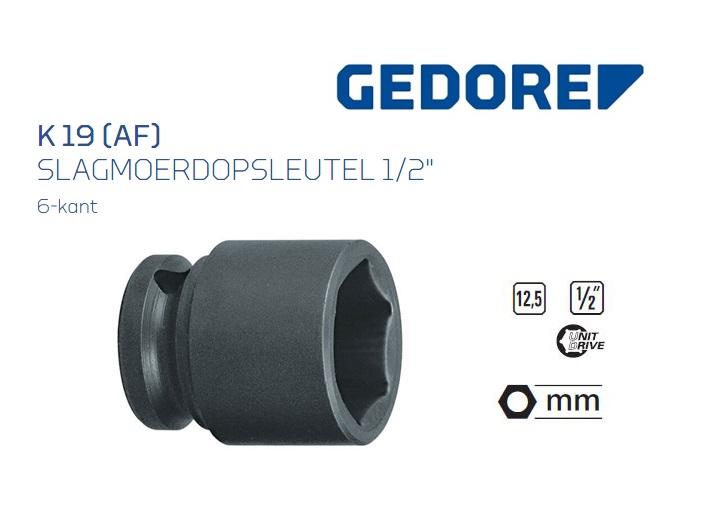 Gedore K 19 AF Slagmoerdopsleutel 12.5mm | DKMTools - DKM Tools