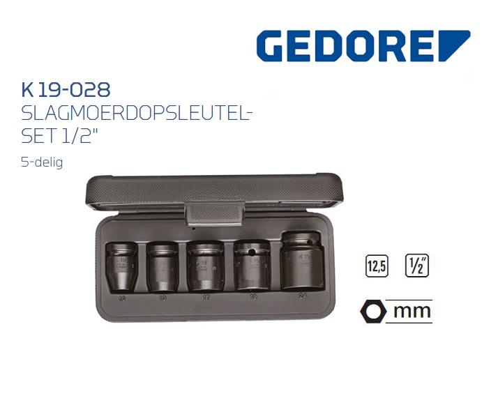 Gedore K 19-028 Slagmoerdopsleutelset | DKMTools - DKM Tools