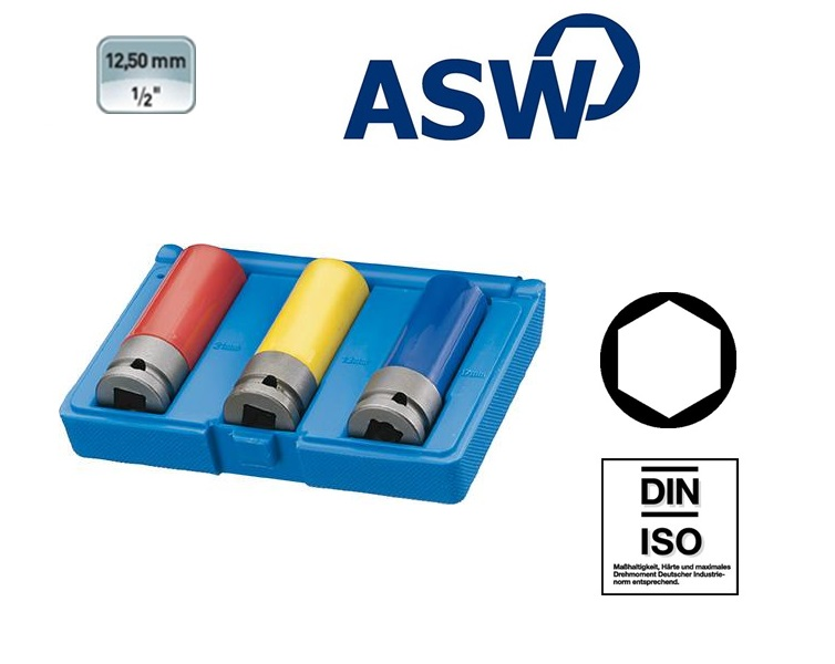 ASW Krachtdopsleutelset 12,5 mm | DKMTools - DKM Tools
