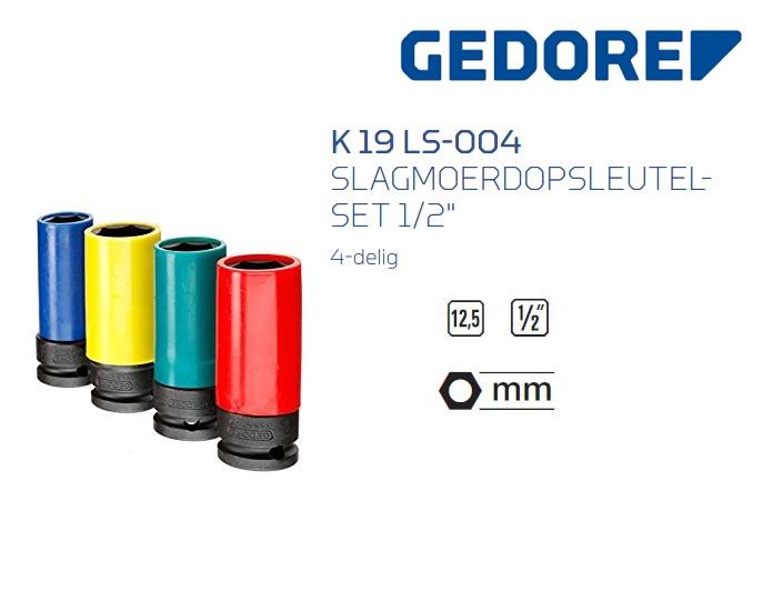 Gedore K 19 LS-004 Krachtdopsleutelset | DKMTools - DKM Tools