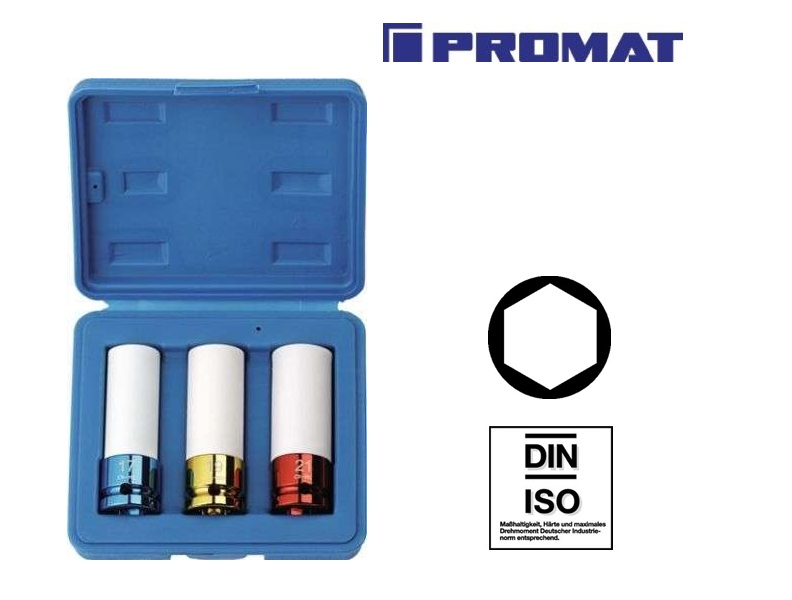 Krachtdoppenset 3-delig | DKMTools - DKM Tools