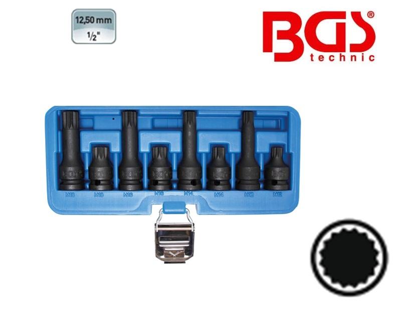 Spline veeltand dopsleutels set XZN 8 delig | DKMTools - DKM Tools