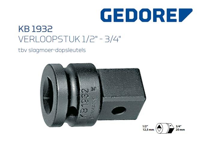Gedore KB 1932 Verloopstuk | DKMTools - DKM Tools
