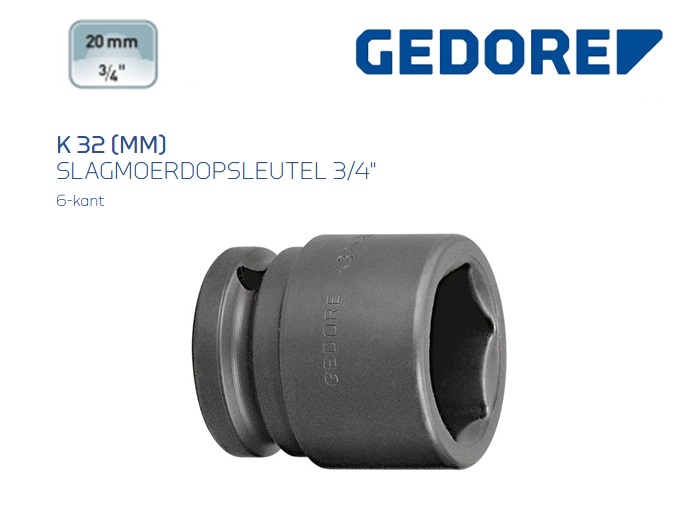 Gedore K 32 Slagmoerdopsleutel 19.0mm | DKMTools - DKM Tools