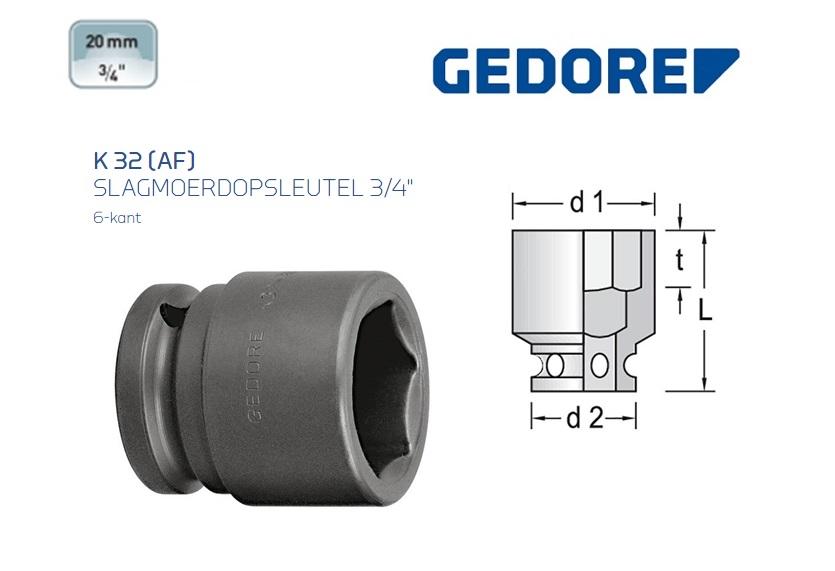 Gedore K 32 AF Slagmoerdopsleutel 19.0mm | DKMTools - DKM Tools