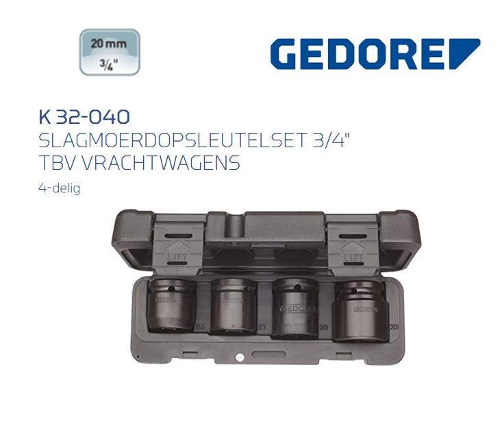 Gedore K32-040 Slagmoerdopsleutelset | DKMTools - DKM Tools