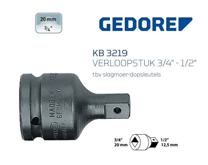 Gedore KB 3219 Verloopstuk | DKMTools - DKM Tools