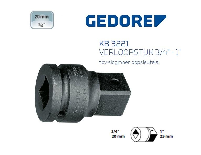 Gedore KB 3221 Verloopstuk | DKMTools - DKM Tools