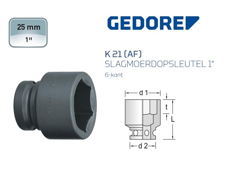 Gedore 21 AF Slagmoerdopsleutel 6-kant | DKMTools - DKM Tools