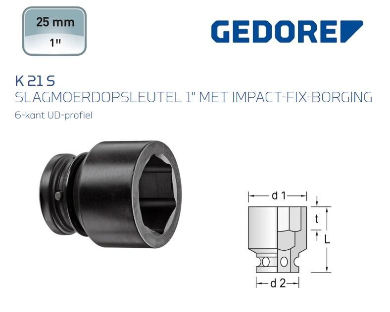 Gedore K 21 S Slagmoerdopsleutel 6-kant | DKMTools - DKM Tools