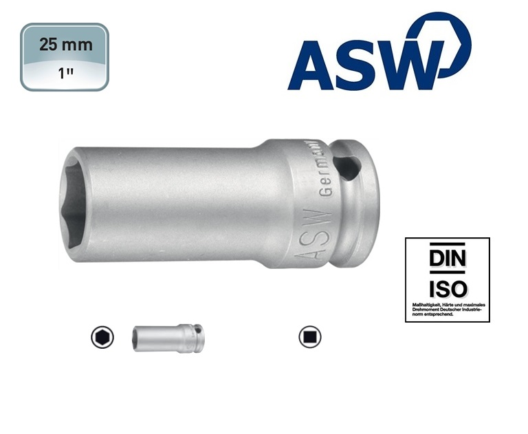 ASW Krachtdopsleutel 6-kant Lang | DKMTools - DKM Tools