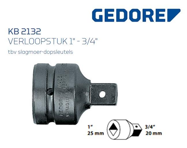 Gedore KB 2132 Verloopstuk | DKMTools - DKM Tools