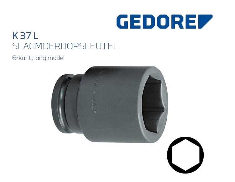 Gedore 37 L Slagmoerdopsleutel Lang | DKMTools - DKM Tools