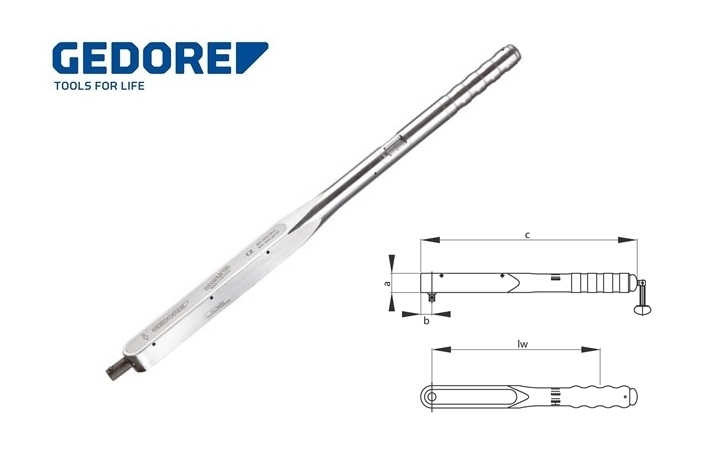 Gedore 8462.Momentsleutel DREMOMETER CZ 80 400Nm | DKMTools - DKM Tools