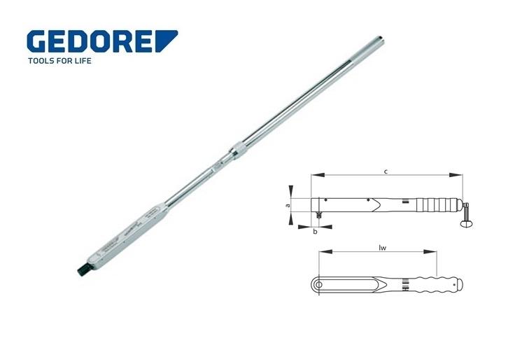 Gedore 8471.Momentsleutel DREMOMETER DXZ 520 1000N | DKMTools - DKM Tools