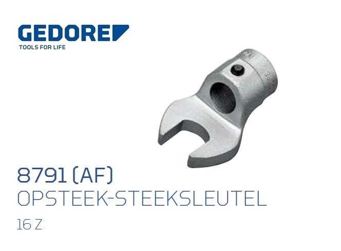 Gedore 8791.Opsteek steeksleutel 16Z Inch | DKMTools - DKM Tools
