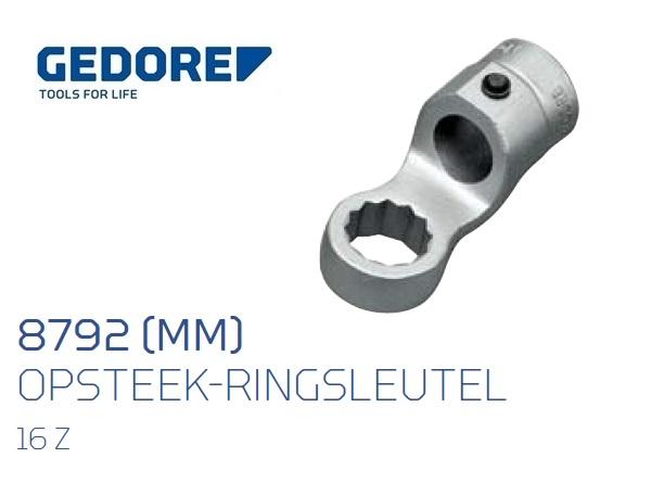 Gedore 8792.Opsteek ringsleutel 16 Z | DKMTools - DKM Tools