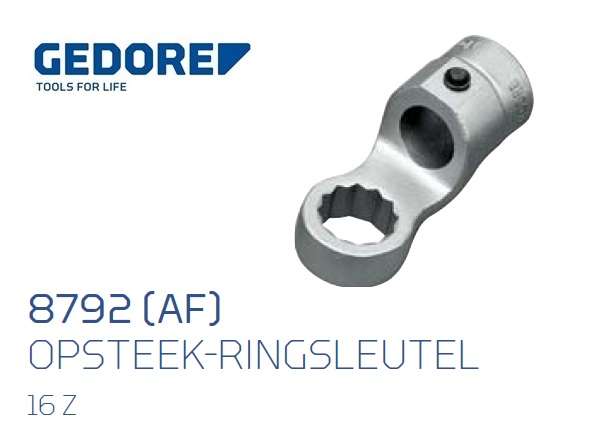 Gedore 8792.Opsteek ringsleutel 16 Z Inch | DKMTools - DKM Tools