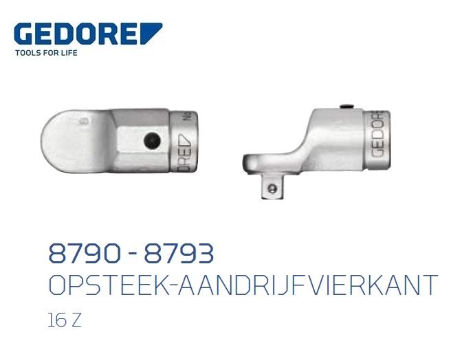 Opsteek aandrijfvierkant 16 Z | DKMTools - DKM Tools