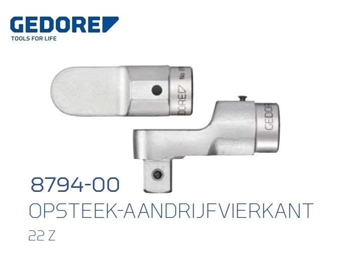 Gedore 8794.Opsteek aandrijfvierkant 22 Z | DKMTools - DKM Tools