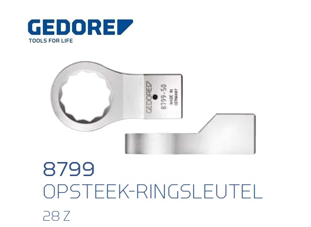 Gedore 8799.Opsteek ringsleutel 28 Z | DKMTools - DKM Tools