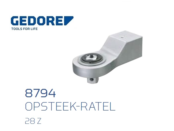 Gedore 8794.Opsteek ratel 28 Z | DKMTools - DKM Tools