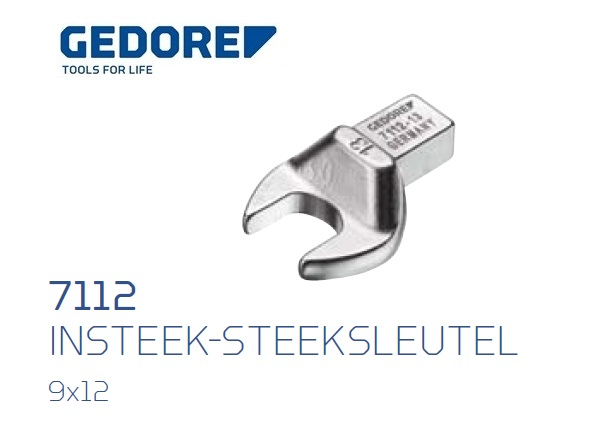 Gedore 7112.Insteek steeksleutel SE 9x12 | DKMTools - DKM Tools
