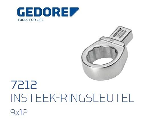 Gedore 7212.Insteek ringsleutel SE 9x12 | DKMTools - DKM Tools
